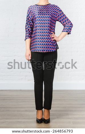Clothing for the pregnant woman - stock photo