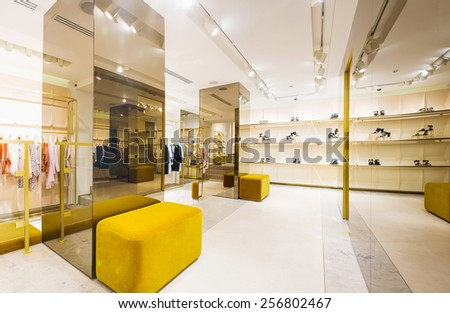 Clothing store interior - stock photo
