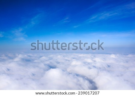 Cloud above the sky - stock photo