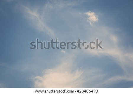 Cloud and blue sky with retro filter - stock photo