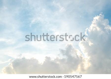 cloud and bluesky - stock photo
