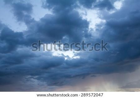 cloud and rain - stock photo