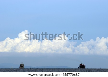 cloud and sea - stock photo