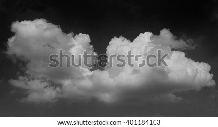 cloud and sky, black and white tone - stock photo