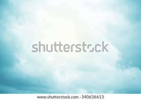 cloud and sky on sweet gradient color, nature abstract background - stock photo