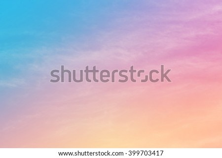 cloud background with a pastel colored  - stock photo