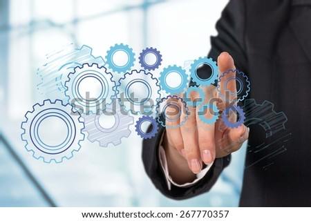 Cloud, Cloud Computing, Technology. - stock photo