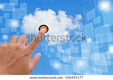 Cloud Computing - stock photo