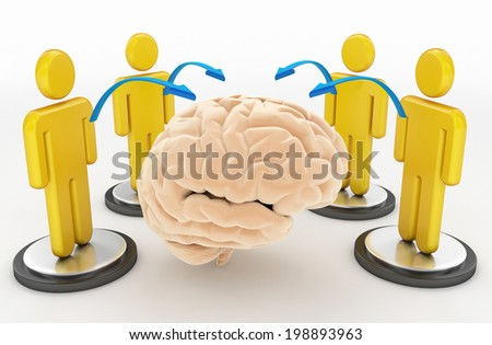 cloud computing and social network concept - stock photo