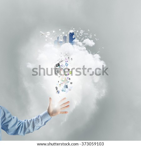 Cloud computing and technology - stock photo