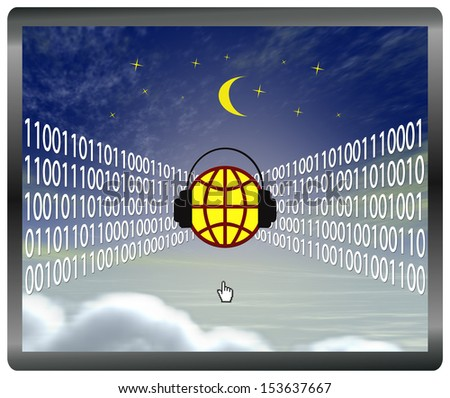 Cloud computing at risk, web security concept in great demand - stock photo