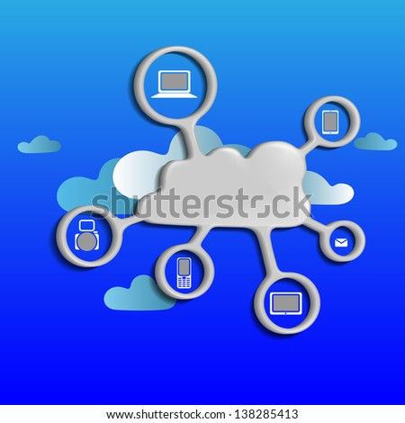 Cloud computing concept. - stock photo