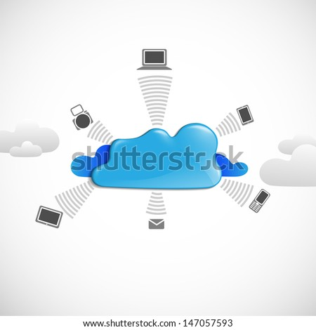 Cloud computing concept.  - stock photo