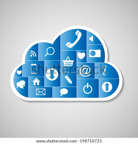 Cloud Computing Concept  Illustration. EPS 10 - stock photo