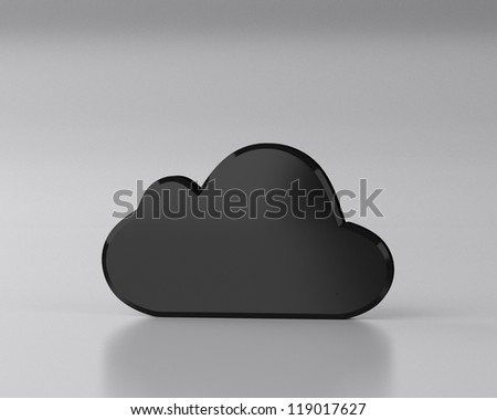 Cloud computing internet security concept - stock photo
