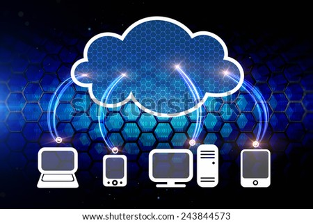 Cloud computing network  - stock photo