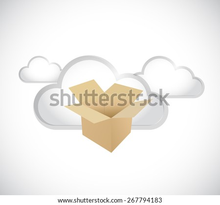 cloud computing storage servers concept illustration design over white - stock photo
