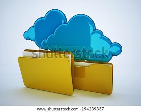 cloud computing system - stock photo