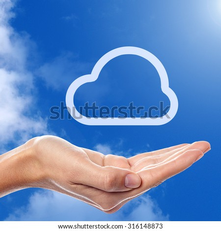 Cloud computing technology abstract scheme - stock photo