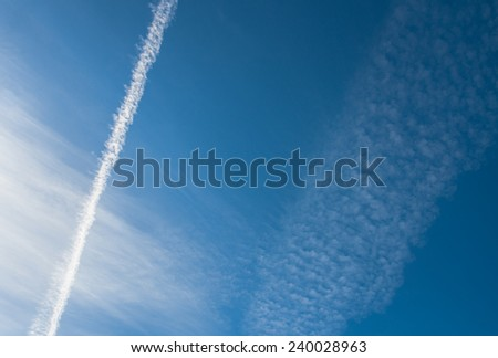 Cloud formations - stock photo