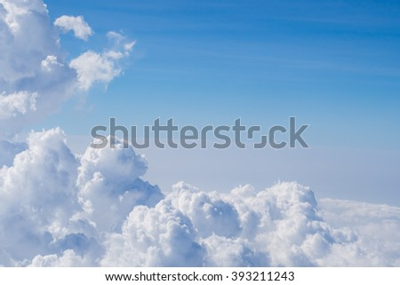 Cloud group on the sky - atmosphere view - stock photo