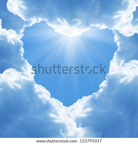 cloud heart - stock photo