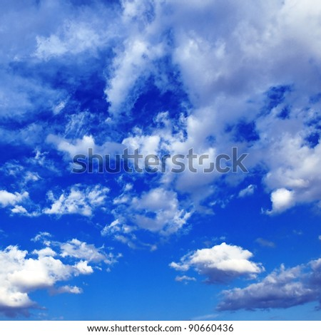 cloud in  blue sky - stock photo