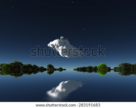 Cloud in distance - stock photo