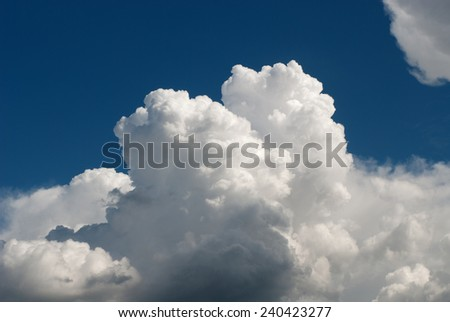Cloud in the sky of Genoa - stock photo
