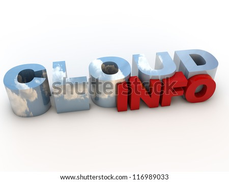 Cloud Info over white Background - stock photo