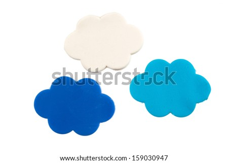 Cloud modelling clay - stock photo