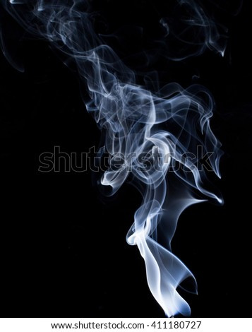 Cloud of smoke on a black background - stock photo