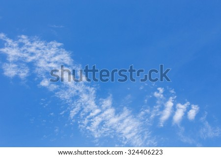 cloud on clear blue sky weather background - stock photo