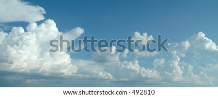Cloud one - stock photo