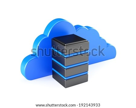 Cloud Server - stock photo