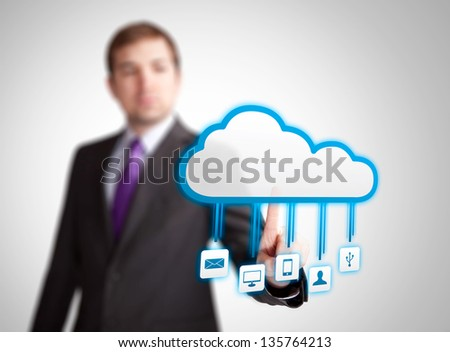 cloud service applications - stock photo