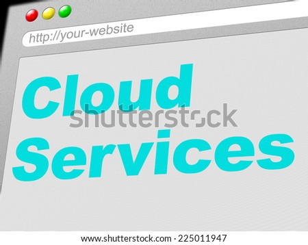 Cloud Services Indicating Help Desk And Cloud-Computing - stock photo