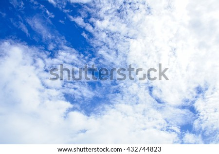 cloud  shape with cloud blue sky,Sky clouds background.white fluffy clouds in the blue sky.vast blue sky and clouds sky - stock photo
