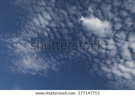 Cloud sky in a late afternoon - stock photo