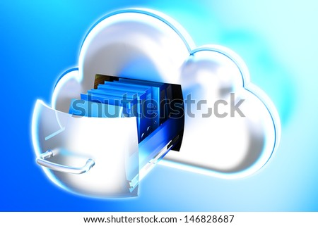 Cloud storage data - stock photo