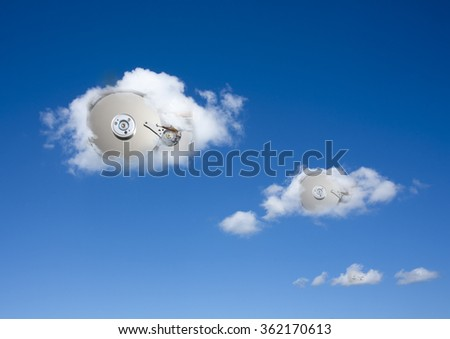 Cloud storage or cloud drive concept image. - stock photo