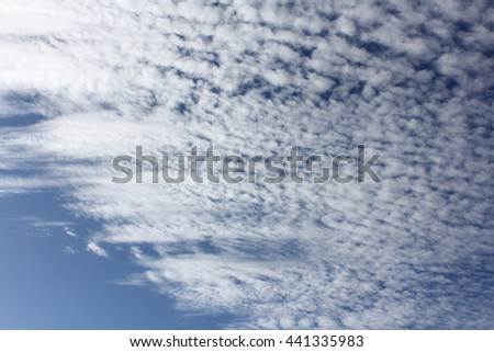 Cloud Textures with Blue Sky 9 - stock photo