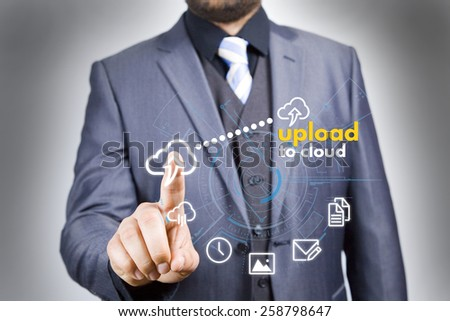cloud upload - stock photo