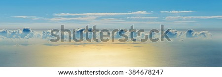Clouds above the sea - stock photo