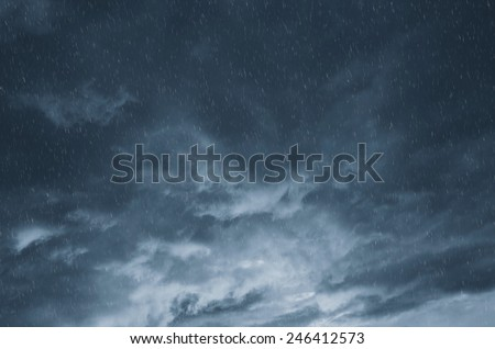clouds and rain - stock photo