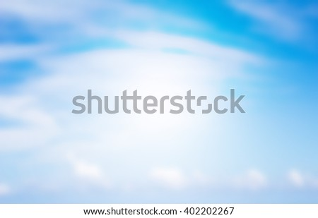 Clouds and sky blurred Abstract background style - stock photo