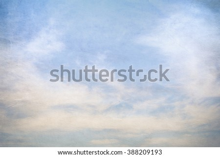 Clouds and sky, vintage style, concept, creative work to differentiate. - stock photo