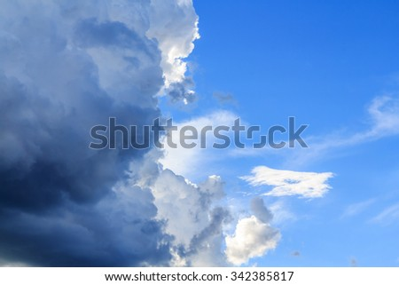 Clouds before storm - stock photo