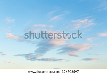 Clouds covered the sky in the morning. The sun shines orange cloud the atmosphere in the morning. - stock photo