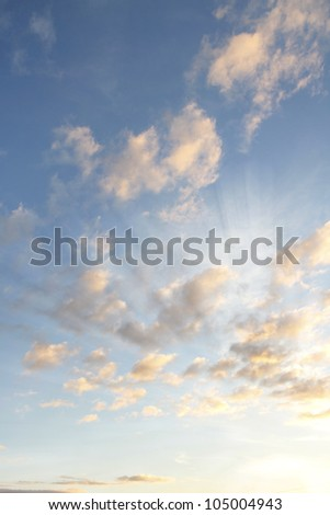 Clouds in a blue sky - stock photo